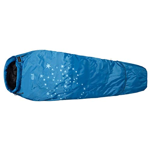 Jack Wolfskin Kinder Schlafsack Grow Up Star, electric blue, Left