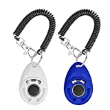 N / A 2PCS Training Clicker for Dogs with Wrist Strap, Dog Cat Clicker Bird Pet Puppy Clicker Training with Big Button, Effective Behavioral Training Tool Training Clicker
