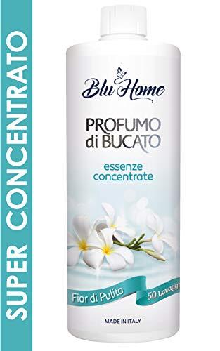 BLU HOME Essenza Profuma Bucato, Profumo per Bucato, Essenza Bucato, Lunga Durata, Super Concentrato per Lavatrice (Fior di Pulito, 500 ml)