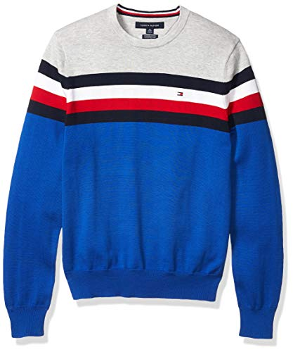 Tommy Hilfiger Men's Stripe Crewneck Sweater