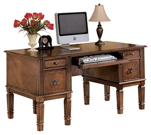 Signature Design by Ashley Hamlyn Home Office Storage Leg Desk Medium Brown