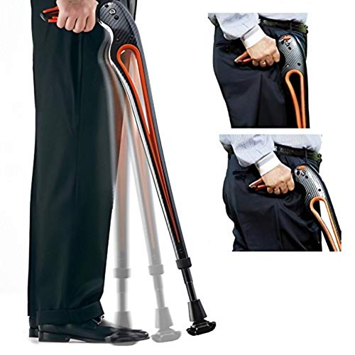 Tucane Advanced Walking Stick- 'Your Third Hip' By Ergoactives. (Medium-black/black 5'3'' to 6'0'' Adjustable)