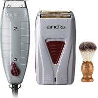 Andis Professional Finishing Combo, T-Outliner Beard/Hair Trimmer with T-Blade, Gray, Model GTO -...
