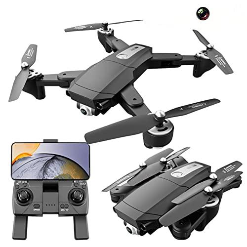 Drone pieghevole GPS S604 Pro con doppia fotocamera 4K per adulti, quadricottero FPV WiFi con motore brushless, drone HD 4K a flusso ottico, volo 60 minuti con 2 batterie
