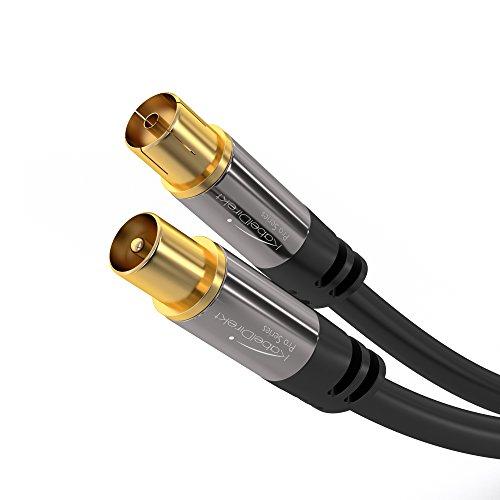 KabelDirekt Cavo Antenna Coassiale, Classe A, Supporta HDTV Schermatura Effettivo di 100 dB, Trasmissione di Segnali HD, Televisori, Ricevitori, PRO Series, 0,5m