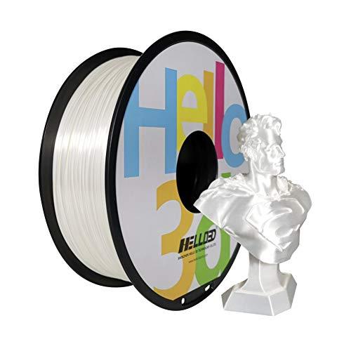 Silky White Filament,3D Printing White Silky Filament,Silk Like Filament.