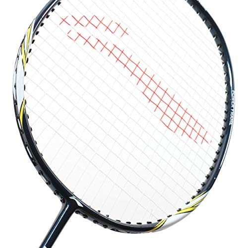 Li Ning Badminton Racket Power X Series Player Edition Light Weight Carbon Graphite Shaft 80+ GMS with Full Carrying Bag Cover (Power X5 - Navy/White)