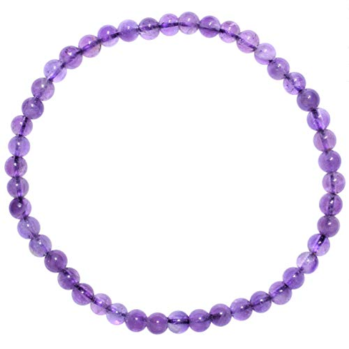 Zenergy Gems Charged Premium Natural Amethyst Crystal 4mm...