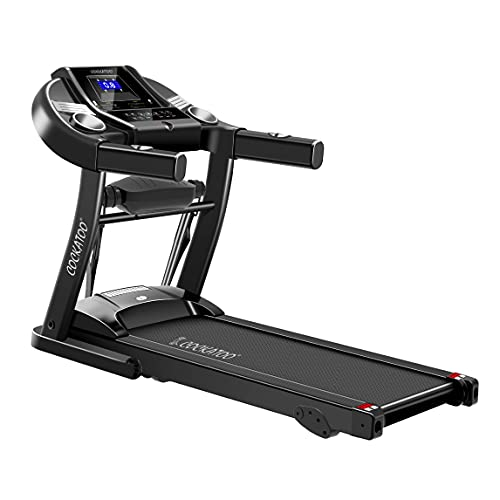 Cockatoo CTM-04 Series Home Use 1.5 HP - 2 HP Peak Motorised Multi-Function Treadmill for Home with Massager, Max Speed 14Km/Hr, Max User Weight 90 Kg (DIY, Do It Yourself Installation)