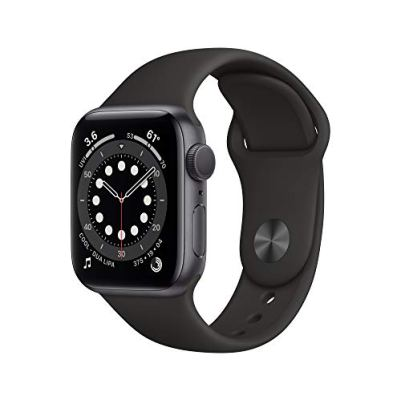 New AppleWatch Series 6 (GPS, 40mm) - Space Gray Aluminum Case with Black Sport Band. Top 21 Smartwatch Brands
