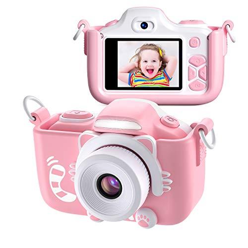Kriogor Macchina Fotografica Bambini, Fotocamera Digitale Selfie per Bambini con Dual Lens/ 12...