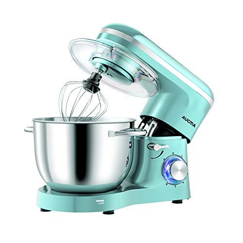Aucma Impastatrice Planetaria da 1400W,Robot da cucina Mixer 6.2L, Miscelatore Cucina per uso alimentare, 6 Velocit Mixer Elettrico da Cucina con Gancio per Impastare, Frusta, Sbattitore, Tiffany