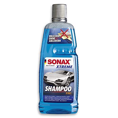 SONAX XTREME Shampoo 2 in 1 (1 Liter) Autoshampoo Konzentrat ohne Abledern...