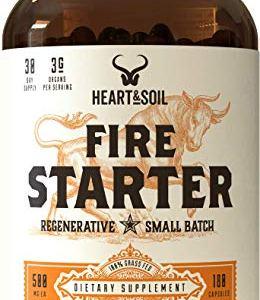Heart & Soil Firestarter Supplement — High Stearic Acid Grass Fed Tallow from Suet to Support Healthy Weight, Energy… 18