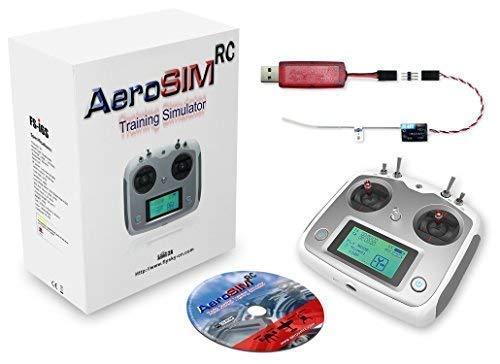 Drone Simulatore AeroSIM RC   Flight Pilot Training Drone Simulator   Multirotore Elicottero Aeroplano   Radiocomando FS-i6S + Ricevitore FS-A8S