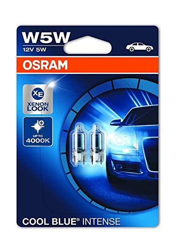 OSRAM 2825HCBI-02B Cool Blue Intense W5W - Lampada alogena per luce di posizione o targa per auto,...