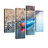 HIPOLOTUS 4 Panel Canvas Pictures Racing Stand up Paddleboard by Starboard Wall Art Prints Paintings Stretched & Framed Poster Home Living Room Decoration Ready to Hang