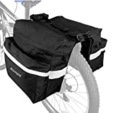 Ationgle Bike Bag Bicycle Panniers Waterproof Bike Saddle Bags for Rear Rack with Carrying Handle, Reflective Belt and Large Pockets