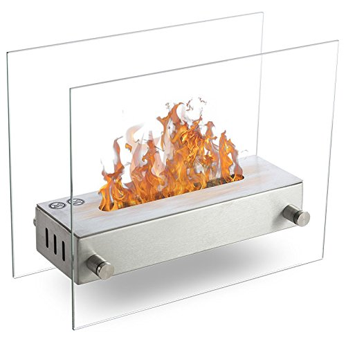 Wikao - Oxy - Brushed Stainless Steel Ethanol Fireplace Burner - Can be Placed on Ground or Table Top