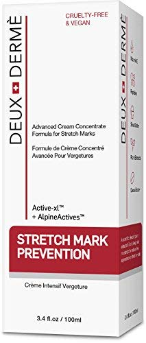 Product Image 1: Deux Derme - Stretch Mark Prevention Cream, with Vitamin E, Cocoa Butter for Pregnancy, Weight Gain, 3.4 oz.