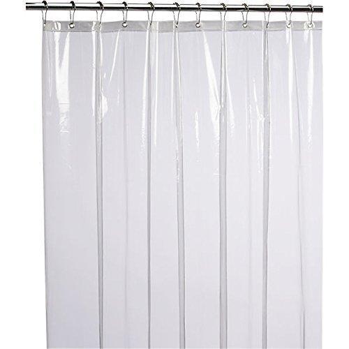 LiBa PEVA 8G Bathroom Shower Curtain Liner, 72' W x 72' H, Clear 8G Heavy Duty Waterproof Shower Curtain Liner Anti-Microbial Mildew Resistant