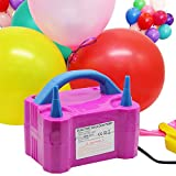 yofit Portable Dual Nozzle 110V 600W Electric Balloon Blower Pump/Electric Balloon Inflator for Wedding Party Holiday Decoration