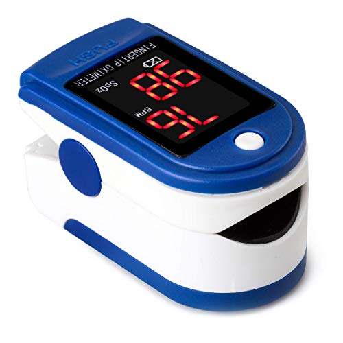 Buyter Finger Tip Pulse Oximeter and Blood Oxygen Saturation Monitor Blue Color with Lanyard