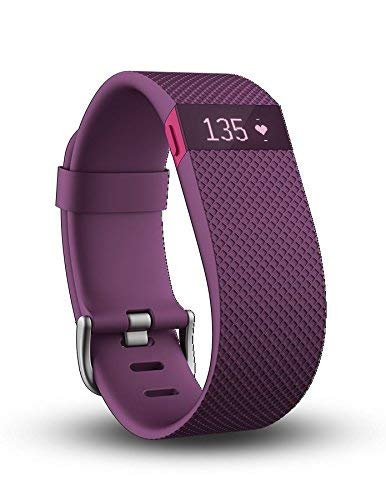 Fitbit Charge HR Wristband, Plum, Small (Renewed)