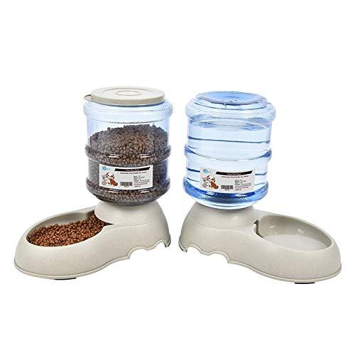 Comederos Automáticos de Alimentos/Fuente de Agua Automática para Prros Gatos – 3.75L