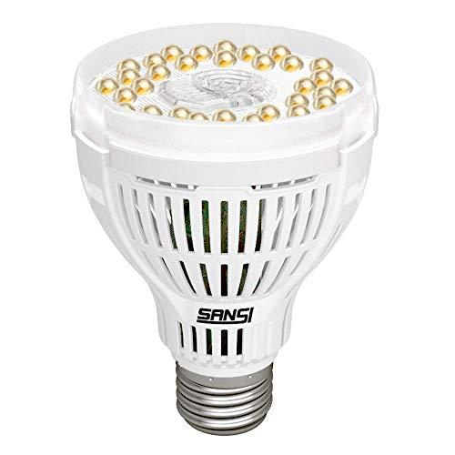 LED Pflanzenlampe Vollspektrum E27 15W- SANSI Pflanzenlicht Tageslichtweiß Led Grow Lampe Voller Zyklus Wachstumslampe für Gewächshäusern,Innengärten,Zimmerpflanzen,Hydroponische Pflanzen