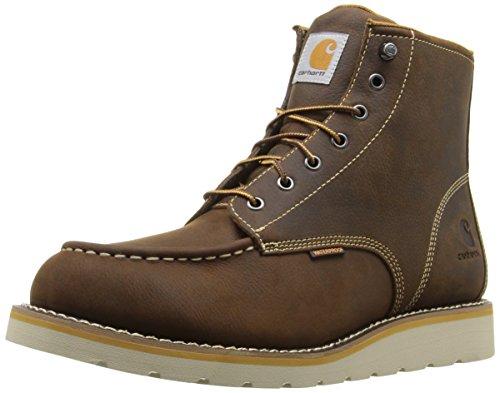 "Carhartt Men's 6"" Waterproof Moc Toe Casual Wedge Work Boot, Brown, 9.5 M US"