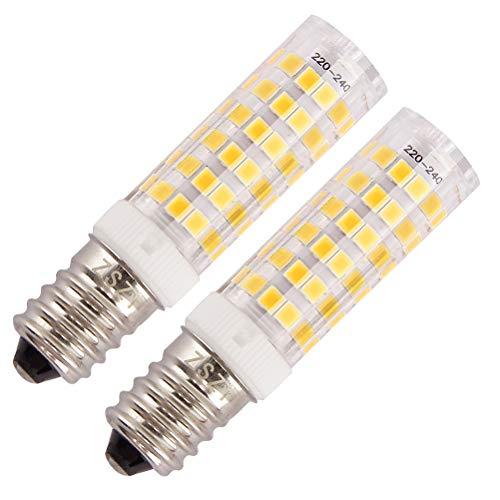 Lampadina cappa cucina ZSZT LED E14 7W Equivalenti a 50W Bianco Caldo 3000K AC220-240V compatte...