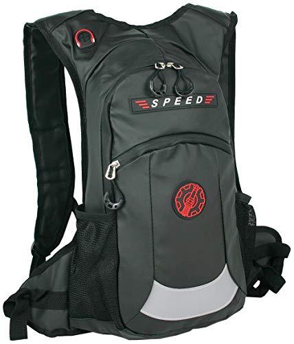BAG STREET - Sac à dos étanche pour moto, bicyclette, vélo, sport et extérieur en noir