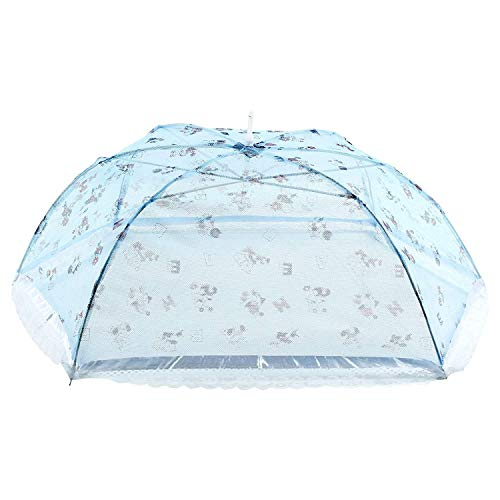 Ssanvi Baby Mosquito Net Foldable Full Cover Baby Mosquito net Umbrella net for Infant Mosquito net for 0 to 18 Month Babies (Blue Alphabetic)