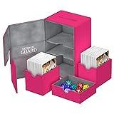 Ultimate Guard UGD10769 - Caja Doble para Cubiertas (160 Unidades, Incluye Juego de Tarjetas de xenoskin, Color Rosa, tamaño estándar)