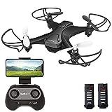 tech rc Mini Drone con Telecamera con Due Batterie Funzione di...