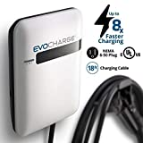 EVoCharge, Level 2 Electric Vehicle (EV) Charger, 240 Volt 32 Amp Charging Station, UL Listed EVSE, Wall Mount & Portable for Indoor/Outdoor Use, NEMA 6-50, Charge up to 8X Faster Than Level 1