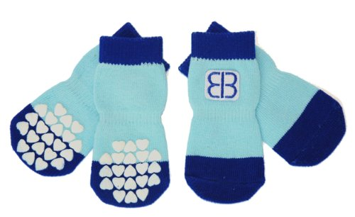 Petego Traction Control Indoor Socks for Dogs,...