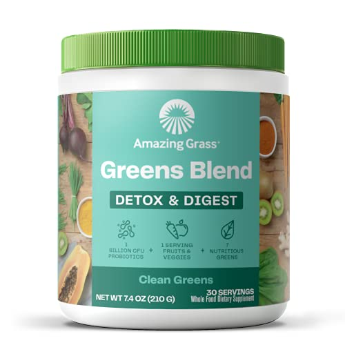 Amazing Grass Greens Blend Detox & Digest: Cleanse with...