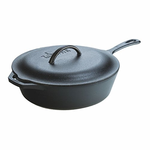 Lodge Cast Iron L10CF3 5 Quart Covered by Deep Skillet