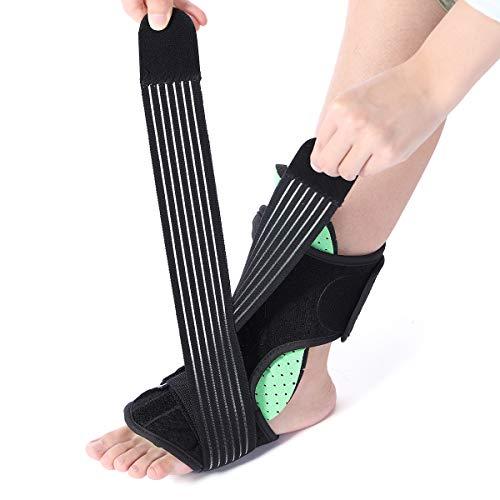 Slimerence Plantar Fasciitis Night Splint Kit 4pcs, Verstellbare Orthese Fußschiene Fußrücken Nachtschiene, Unterstützung mit Massageball - Fußorthese und Schmerzlinderung für Frauen und Männer