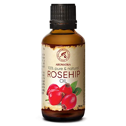 Aceite de Rosa Mosqueta 50ml - Rosa Canina Fruit Oil - Chile - 100% Puro y Natural - Prensado en...