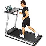 FUNMILY Folding Treadmill, 2.25HP Folding Treadmill with Large Desk and Bluetooth Speaker, Portable Compact Treadmill with 12 Pre-Set Programs and 16.5 Inch Wide Tread Belt,265 LB Max Weight (Navy)