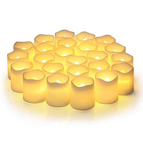 Flameless Votive Candles,Flameless Flickering Electric Fake...