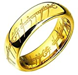 6MM Bague Tungstene'Seigneur des Anneaux'LORD OF THE RINGS' (57)