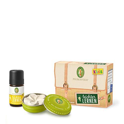 PRIMAVERA Kids Set Leichter lernen - Geschenkbox Duftstein und Duftmischung - Aromaöl, Duftöl, ätherisches Öl , Aromatherapie, Geschenk - vegan