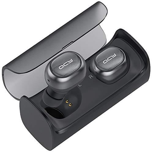 QCY Q29 Bluetooth イヤホン 完全分離型 ワイヤレス イヤホン ブルートゥース イヤホン 防水 ノイズキャンセリング 左右独立型 両耳 片耳対応 マイク付き QCY Q29BK (ブラック)
