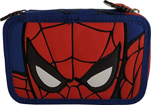 Spiderman Astuccio 3 Zip Completo Uomo Ragno 57214
