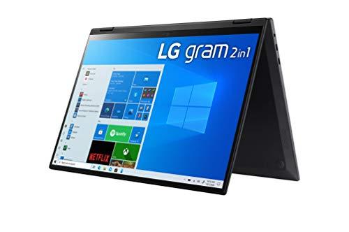 "LG - Portátil gram 16T90P-G.AA78B Windows 10 Home, Convertible 2en1 Ultraligero de 40.6 cm (16"") WQXGA 16:10 IPS (1.4 Kg, 16h, Intel EvoTM i7 11ª Gen, Iris Xe, 16GB RAM, 512GB SSD NVMe), Negro"