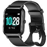Blackview Smartwatch Uomo Donna,Orologio Fitness con Contapassi Saturimetro (SpO2) Sonno Cardiofrequenzimetro da Polso, Activity Tracker Sport Impermeabile 5ATM per Android iOS(2 Cinturini)